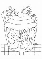Cupcake Muffin Ausmalbilder Torte Kuchen Letzte Seite Q2 Ausmalbild sketch template