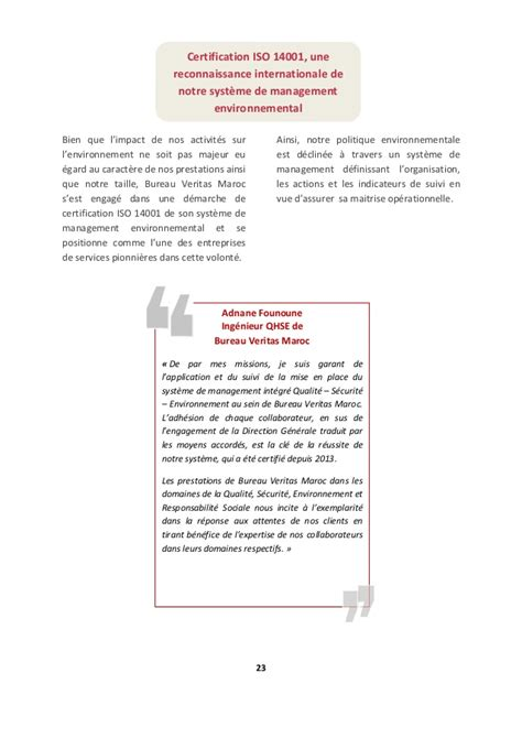 actions bureau veritas rapport rse de bureau veritas maroc 2015 2016