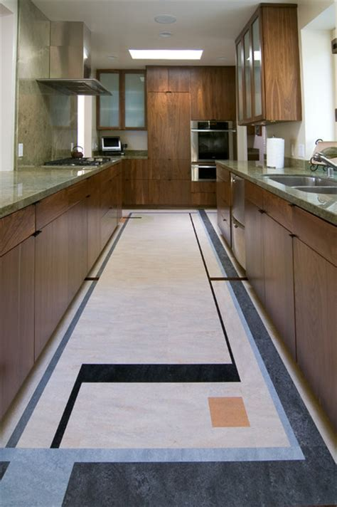 Forbo Marmoleum Dual Tile   Modern   Kitchen   Los Angeles
