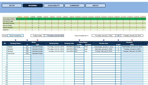 Hotel Reservation System Template hotel reservation template excel templates excel