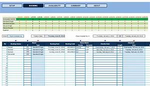 Hotel reservation template excel templates excel for Hotel reservation system template