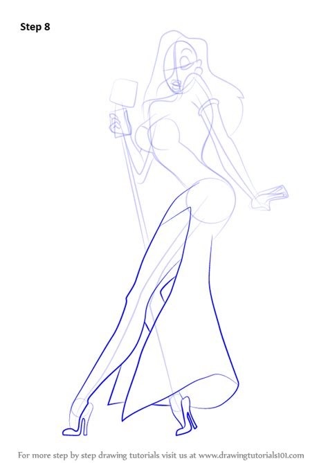 learn   draw jessica rabbit jessica rabbit step