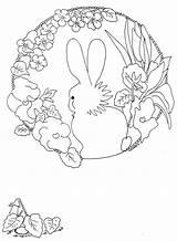 Coloring Easter Kleurplaten Pages Spring Digital Ribbon sketch template
