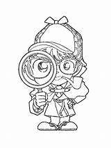 Detective Coloring Printable Mycoloring sketch template