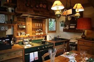 Photo cuisine et rustique deco photo decofr for Idee deco cuisine avec cuisine rustique