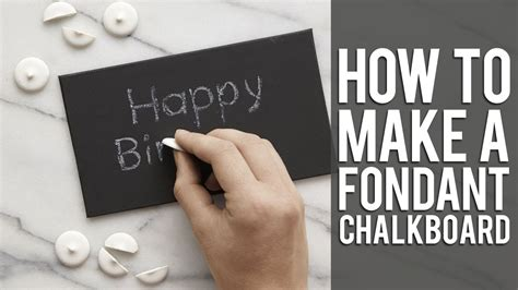How To Do A by How To Use Chalk For Your Edible Chalkboard Cake