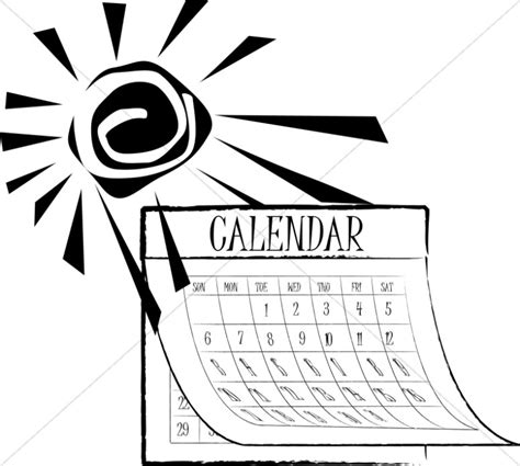 schedule clipart black and white black and white summer sun calendar