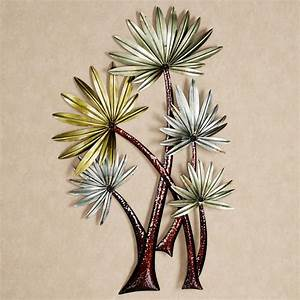 caribbean retreat tropical palm metal wall sculpture With kitchen cabinets lowes with palm tree metal wall art