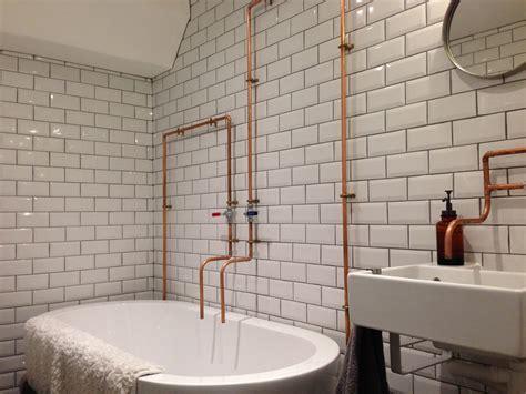 metro tiles s industrial bathroom walls and