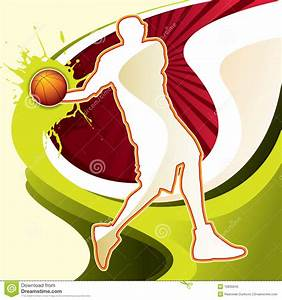 Abstract Background With Basketball Player Royalty Free ...