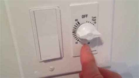 bathroom exhaust fan control switch bathroom exhaust fan switch review and demonstraion video