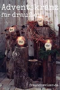 Advent Deko Für Draußen : die besten 25 weihnachts holz dekoration ideen holzdeko weihnachten baumscheiben und basteln ~ Orissabook.com Haus und Dekorationen