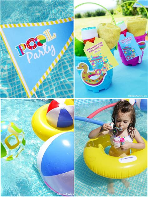 Pool Party Ideas & Kids Summer Printables  Party Ideas