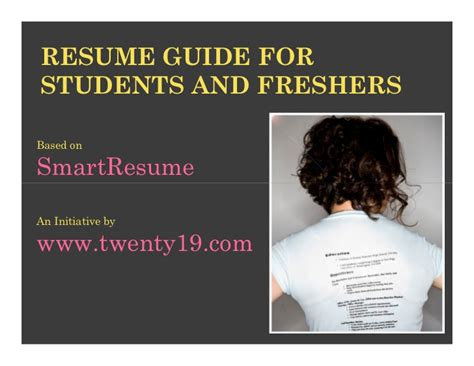 Best Creative Resume Format For Freshers by Smartest Resume Guide For Students And Freshers