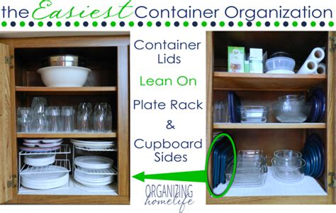 how to organize plastic containers in kitchen the easiest way to organize food storage containers 9503
