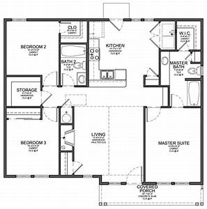 Small 3 Bedroom Modern House Plans Cottage House Plans