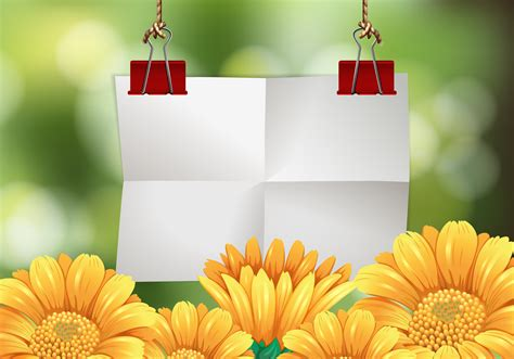 Blank paper with flowers in background 448160 - Download Free Vectors, Clipart Graphics & Vector Art