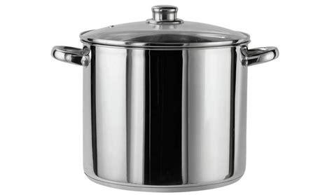 argos pot stainless steel litre saucepans