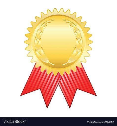 14764 award ribbon icon vector gold award ribbon royalty free vector image vectorstock