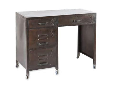 le bureau retro bureau vintage en acier brut teinte vieillie sur