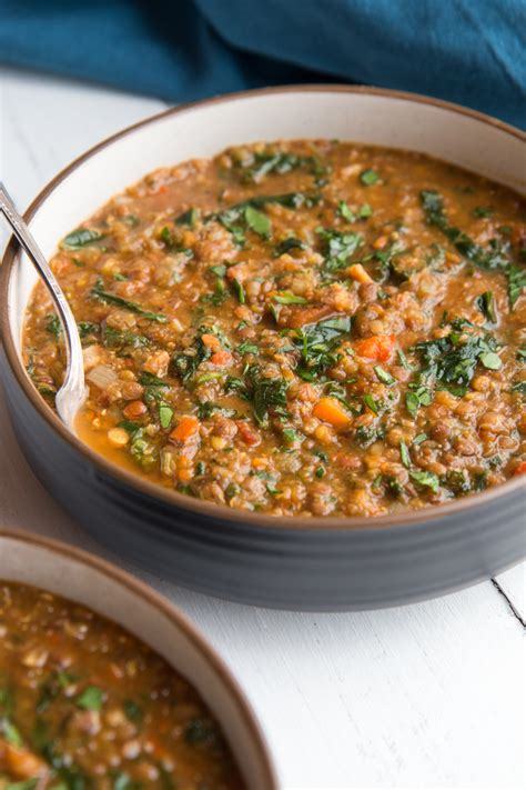 easy lentil soup with kale and bacon will cook for friends