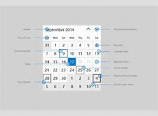Calendar view UWP app developer Microsoft Docs
