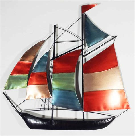 Sailboat Wall Decor Metal by Metal Wall Colour Sailing Ship Yacht