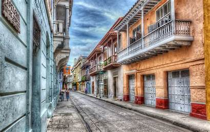 Colombia Cartagena Wallpapers Wallpapersafari Street