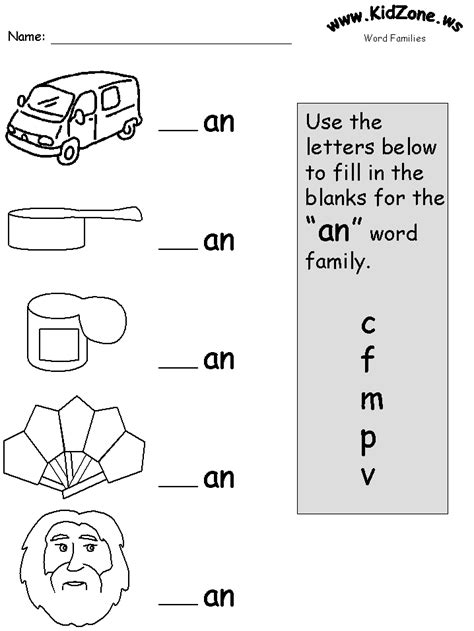 From The Heart Up Free Printable Phonics Worksheets An, Ap, At