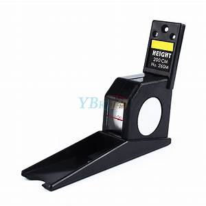 2M/200CM Stature Meter Height Measure Measuring Tape Black ...