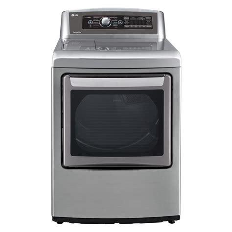 gas or electric dryer shop lg easyload 7 3 cu ft gas dryer graphite steel at lowes com