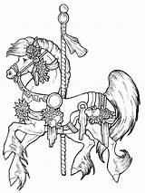 Coloring Horse Pages Adults Printable Inspirational Animal Colouring Carousel Sheets Uploaded User sketch template