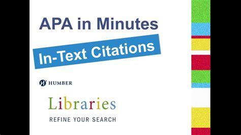 minutes  text citations youtube