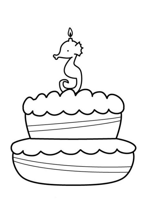 kostenlose malvorlage geburtstag kuchen zum dritten
