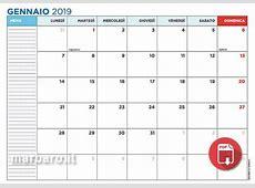 Calendari 2019 con le festività italiane, in PDF da stampare