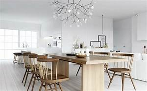 Table de cuisine style scandinave for Idee deco cuisine avec decoration interieur style scandinave