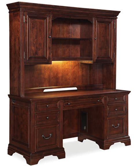 desk and hutch cambridge home office furniture 2 set credenza