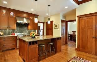 mission style kitchen island craftsman style kitchen decoist