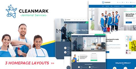 Clean Themes Cleanmark Cleaning Janitorial Service Theme