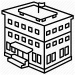 Building Bank Icon Office 3d Drawing Government