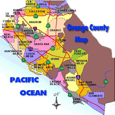 orange county california map click   city  find