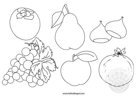 disegni da colorare frutta e verdura frutta autunno da colorare tuttodisegni