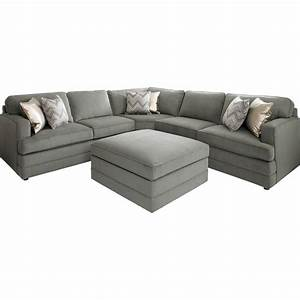 Bassett dalton l shaped sectional sofa with ottoman for Bassett dalton l shaped sectional sofa with ottoman