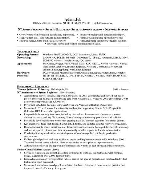 cisco network engineer resume resume template 2017