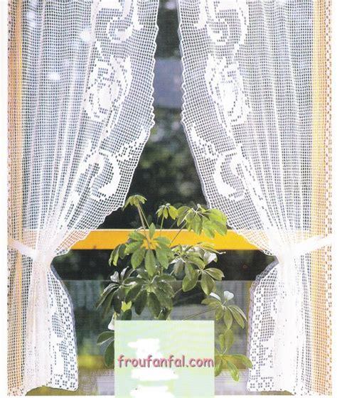 modele rideau de cuisine rideau bonne femme au crochet quot guirlande quot avec tuto le