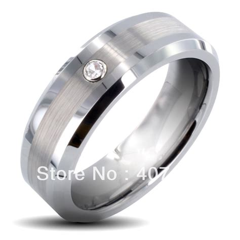 free shipping buy promotion jewelry usa selling 8mm s tungsten carbide brushed cubic