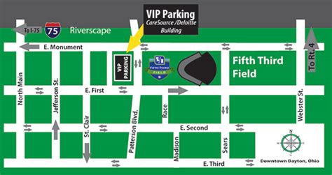 fifth third parking garage parking at fifth third field milb open category 1