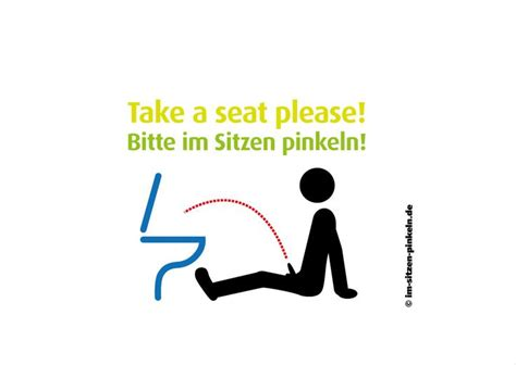 bitte im sitzen pinkeln 16 best images about saubere toilette on toilets and pictogram