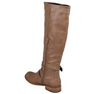 womens boots calf journee collection womens buckle wide calf boots ebay