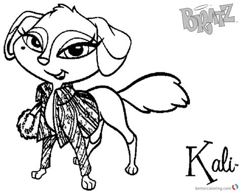 Bratz Coloring Pages Kali Petz Doll
